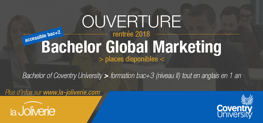 Ouverture Bachelor Global Marketing