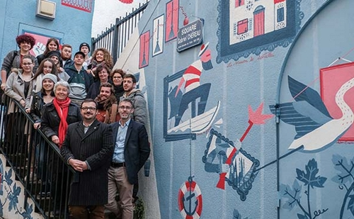 Inauguration fresque Ancin